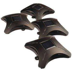 MAXSA Innovations 47335 Ninja Star Solar Deck Lights