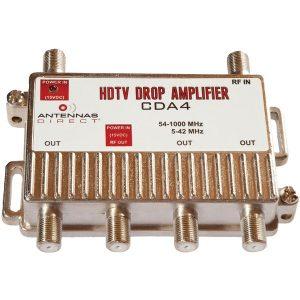 Antennas Direct CDA4 Output TV/CATV Distribution Amp (4 Way)
