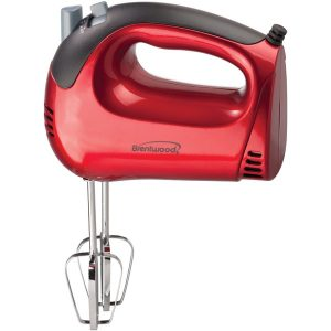 Brentwood Appliances HM-46 5-Speed Electric Hand Mixer (Red)