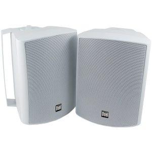 """Dual LU53PW 5.25"""" 3-Way Indoor/Outdoor Speakers (White)"""