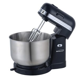 Brentwood Appliances SM-1162BK 5-Speed Stand Mixer with 3-Quart Stainless Steel Mixing Bowl (Black)