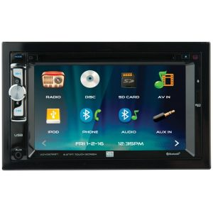 Dual XDVD276BT 6.2-Inch Double-DIN In-Dash DVD/CD Receiver with Bluetooth