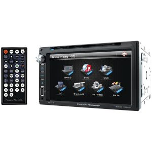 """Power Acoustik PD-651B 6.5"""" Double-DIN In-Dash LCD Touchscreen DVD Receiver (With Bluetooth)"""