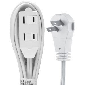 GE 50360 2-Outlet Wall Hugger Extension Cord