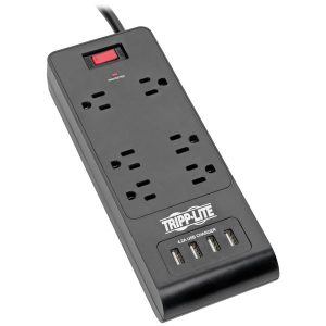 Tripp Lite TLP664USBB Protect It! 6-Outlet Surge Protector with 4 USB Ports