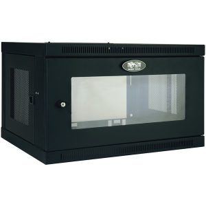 Tripp Lite SRW6UG SmartRack 6U Low-Profile Switch-Depth Wall-Mount Rack Enclosure Cabinet with Clear Acrylic Window