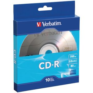 Verbatim 97955 700MB 80-Minute CD-Rs with Branded Surface
