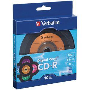 Verbatim 97935 700MB 80-Minute Digital Vinyl CD-Rs (10 pk)