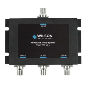 Wilson Electronics 850035 Wideband 3-Way Splitter with F-Female Connector