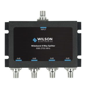Wilson Electronics 850036 Wideband 4-Way Splitter with F-Female Connector
