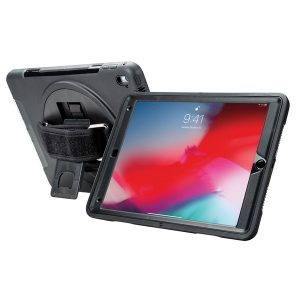 CTA Digital PAD-PCGK10 Protective Case with Built-in 360deg Rotatable Grip Kickstand for iPad 10.2 In. 7th Generation
