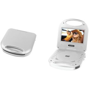 """SYLVANIA SDVD7049-SILVER 7"""" Portable DVD Player with Integrated Handle (Silver)"""