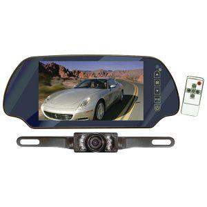 """Pyle PLCM7200 7"""" LCD Mirror Monitor/Backup Night Vision Camera Kit"""