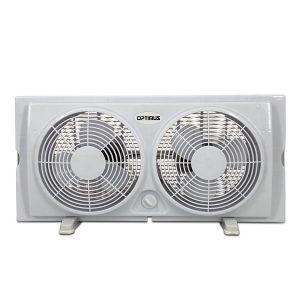 """Optimus F-5280 7"""" Twin Window Fan"""