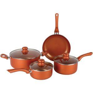Brentwood Appliances BPS-107C 7-Piece Nonstick Copper Cookware Set