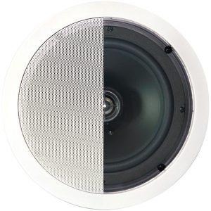 """BIC America MSR8 125-Watt 2-Way 8"""" In-Ceiling Speaker with Pivoting Tweeter"""