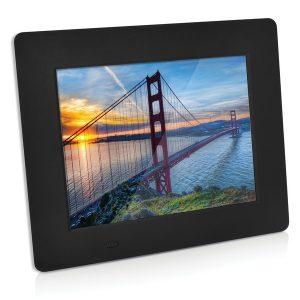 SXE SXE85003BK 8-Inch Black Digital Picture Frame with Alarm Clock and Calendar