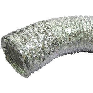 Deflecto F0408MSX/30 Aluminum Duct (Supurr-Flex transition ducting; 8ft)