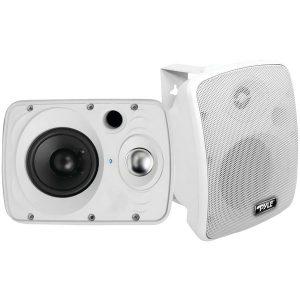 """Pyle Home PDWR64BTW 6.5"""" Indoor/Outdoor 800-Watt Bluetooth Speaker System (White)"""