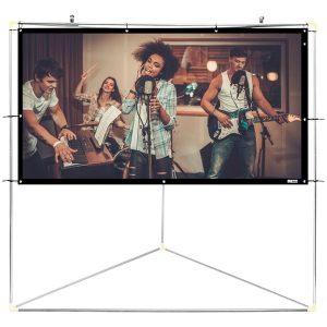 "Pyle Home PRJTPOTS81 Portable Outdoor Projection Screen (80"")"