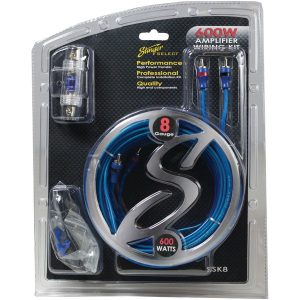 Stinger SSK8 Select Wiring Kit with Ultra-Flexible Copper-Clad Aluminum Cables (8 Gauge)