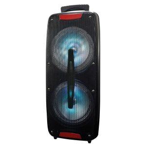 Supersonic IQ-3208DJTWS- Black Dual 8-Inch Bluetooth Speaker with True Wireless Technology (Black)