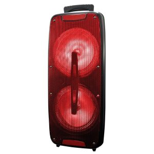 Supersonic IQ-3208DJTWS- Red Dual 8-Inch Bluetooth Speaker with True Wireless Technology (Red)