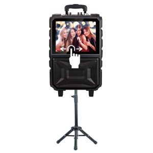 QFX KAR-920 8-Inch Portable Touch Screen Karaoke Speaker System with Bluetooth
