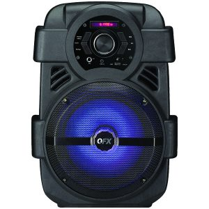 """QFX PBX-8 8"""" Rechargeable Bluetooth Party Speaker"""