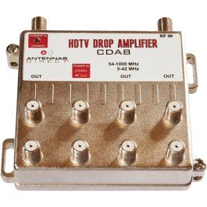 Antennas Direct CDA8 Output TV/CATV Distribution Amplifier (8 Way)