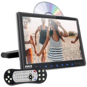 """Pyle PLHRDVD904 9.4"""" LCD Universal Headrest Monitor with DVD/CD Player & IR & FM Transmitters"""