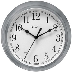 "Westclox 46984A 9"" Decorative Wall Clock (Gray)"