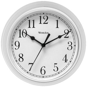 "Westclox 46994A 9"" Decorative Wall Clock (White)"