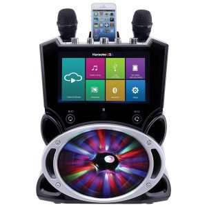 Karaoke USA WK849 Complete Wi-Fi Bluetooth Karaoke Machine with 9-Inch Touch Screen