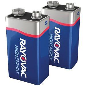 RAYOVAC A1604-2J 9-Volt Alkaline Batteries