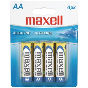 Maxell 723465 - LR64BP Alkaline Batteries (AA; 4 pk; Carded)