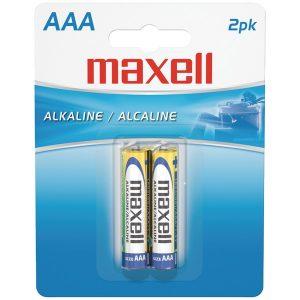 Maxell 723807 - LR032BP Alkaline Batteries (AAA; 2 pk; Carded)