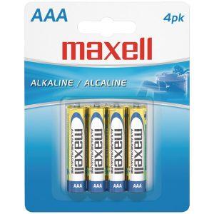 Maxell 723865 - LR034BP Alkaline Batteries (AAA; 4 pk; Carded)