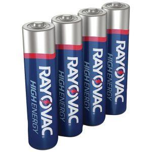 RAYOVAC 824-4J AAA Alkaline Batteries (4 pk)