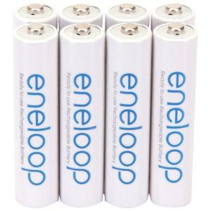 Panasonic BK-4MCCA8BA eneloop Rechargeable Batteries (AAA; 8 pk)