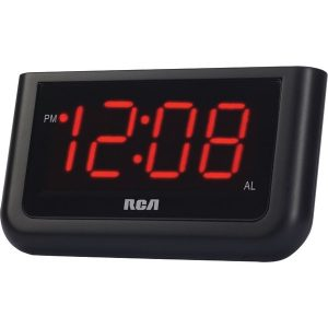 """RCA RCD30A Alarm Clock with 1.4"""" Red Display"""