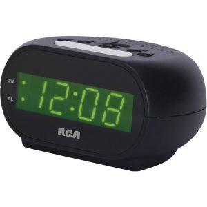 "RCA RCD20A Alarm Clock with .7"" Green Display"