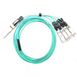 AMC AOC-QSFP-4XSFP10G-3M-AMC Active Optical Cable (AOC) - For QSFP+ to SFP+ Applications