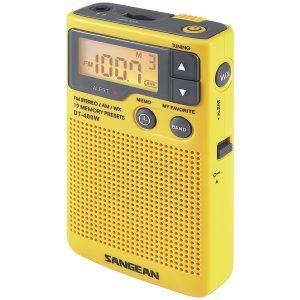 Sangean DT-400W Digital AM/FM Pocket Radio with Weather Alert