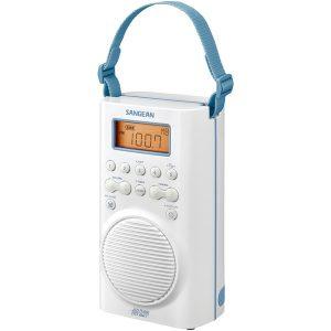 Sangean H205 AM/FM/Weather Alert Waterproof Shower Radio (White)