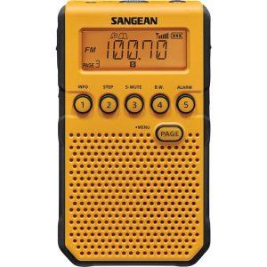 Sangean DT-800YL AM/FM/NOAA Weather Alert Pocket Radio (Yellow)