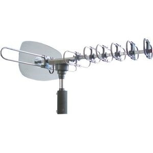 Naxa NAA-351 High-Powered Amplified Motorized Outdoor ATSC Digital TV Antenna with Remote