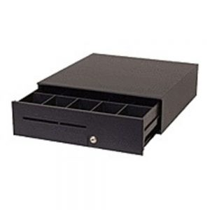 APG Cash Drawers Series 100 T371-BL16195 Havy Duty Compact Cash Drawer with Epson Interface Cable - Black