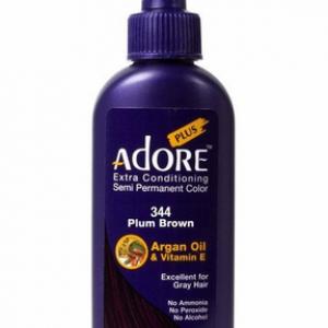 Adore Plus Semi Permanent Hair Color 344 Plum Brown 3.4 oz