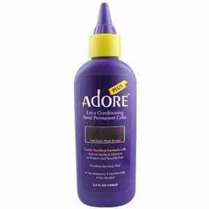 Adore Plus Semi Permanent Hair Color 348 Dark Plum Brown 3.4 oz